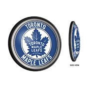 Toronto Maple Leaf: Round Slimline Illuminated Wall Sign