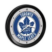 Toronto Maple Leaf: Ribbed Frame Wall Clock