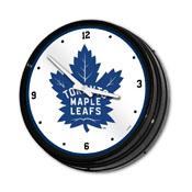 Toronto Maple Leaf: Illuminated Retro Diner Wall Clock