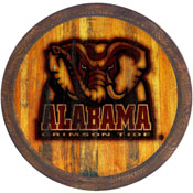 "Alabama Crimson Tide: Al Logo - Branded ""Faux"" Barrel Top Sign"