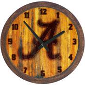 "Alabama Crimson Tide: Branded ""Faux"" Barrel Top Wall Clock"