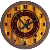 "Alabama Crimson Tide: Seal - ""Faux"" Barrel Top Wall Clock"