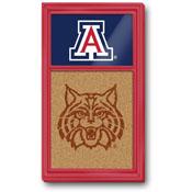 Arizona Wildcats: Dual Logo - Cork Note Board