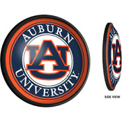 Auburn Tigers: Round Slimline Lighted Wall Sign