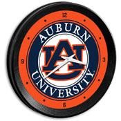Auburn Tigers: Ribbed Frame Wall Clock