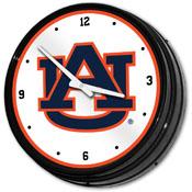 Auburn Tigers: Retro Lighted Wall Clock