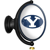 BYU Cougars: Original Oval Rotating Lighted Wall Sign