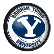 BYU Cougars: Round Slimline Lighted Wall Sign