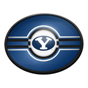 BYU Cougars: Oval Slimline Lighted Wall Sign