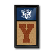 BYU Cougars: Cougar, Dual Logos - Cork Note Board