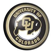 Colorado Buffaloes: Round Slimline Lighted Wall Sign