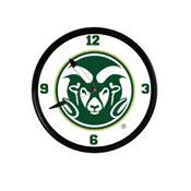 Colorado State Rams: Retro Lighted Wall Clock