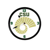 Colorado State Rams: Ram's Horn - Retro Lighted Wall Clock