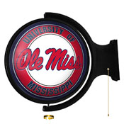Ole Miss Rebels: Original Round Rotating Lighted Wall Sign