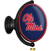 Ole Miss Rebels: Original Oval Rotating Lighted Wall Sign
