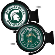 Michigan State Spartans: Original Round Double-Sided Rotating Lighted Wall Sign