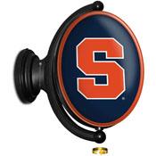Syracuse Orange: Original Oval Rotating Lighted Wall Sign