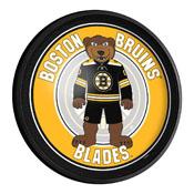 Boston Bruins: Blades - Round Slimline Lighted Wall Sign