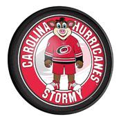 Carolina Hurricanes: Stormy - Round Slimline Lighted Wall Sign