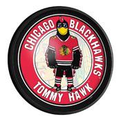 Chicago Blackhawks: Tommy Hak - Round Slimline Lighted Wall Sign