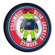 Columbus Blue Jackets: Stinger - Round Slimline Lighted Wall Sign