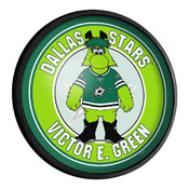 Dallas Stars: Victory E. Green - Round Slimline Lighted Wall Sign