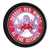 Detroit Red Wings: Al the Octopus - Round Slimline Lighted Wall Sign
