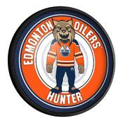 Edmonton Oilers: Hunter - Round Slimline Lighted Wall Sign