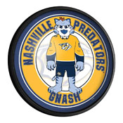 Nashville Predators: Gnash - Round Slimline Lighted Wall Sign