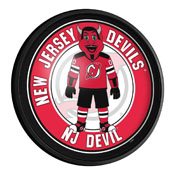 New Jersey Devils: Devil - Round Slimline Lighted Wall Sign