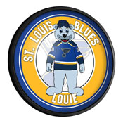 St. Louis Blues: Louie - Round Slimline Lighted Wall Sign