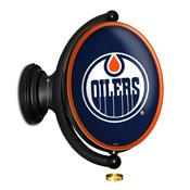 Edmonton Oilers: Original Oval Illuminated Rotating Wall Sign