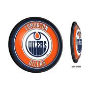 Edmonton Oilers: Round Slimline Illuminated Wall Sign