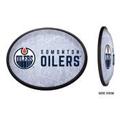 Edmonton Oilers: Ice Rink - Oval Slimline Illuminated Wall Sign