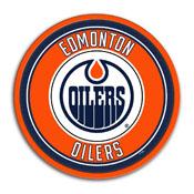 Edmonton Oilers: Modern Disc Wall Sign