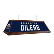 Edmonton Oilers: Premium Wood Pool Table Light