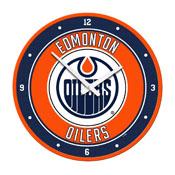 Edmonton Oilers: Modern Disc Wall Clock