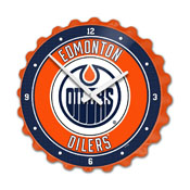 Edmonton Oilers: Bottle Cap Wall Clock