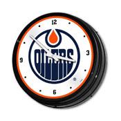 Edmonton Oilers: Illuminated Retro Diner Wall Clock