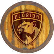 """Florida Panthers: Branded """"Faux"""" Barrel Top Sign"""