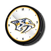 Nashville Predators: Illuminated Retro Diner Wall Clock