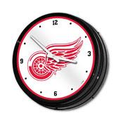 Detroit Red Wings: Illuminated Retro Diner Wall Clock