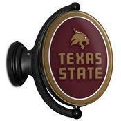 TXST - Texas State Bobcats Rotating LED Team Spirit Wall Sign