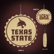 TXST - Texas State Bobcats Team Spirit Bottle Cap Dangler