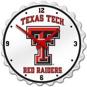 Texas Tech Red Raiders Team Spirit Bottle Cap Wall Clock