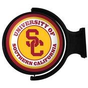 USC Trojans Rotating Illuminated Team Spirit Wall Sign-Round