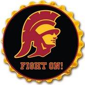USC Trojans Team Spirit Bottle Cap Wall Sign-Trojan