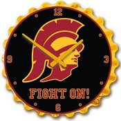 USC Trojans Team Spirit Bottle Cap Wall Clock-Trojan