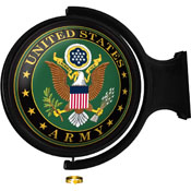 US Army: Original Round Lighted Rotating Wall Sign