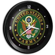 US Army: Ribbed Frame Wall Clock